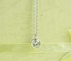 Mini Round CZ Necklace